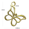 24K Gold Plated Sterling Silver Butterfly Charm Pendant